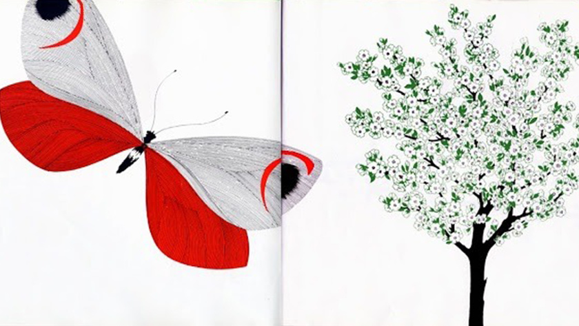 La mela e la farfalla, © 1969, Iela et Enzo Mari, © 2004, l'école des loisirs for the World Rights