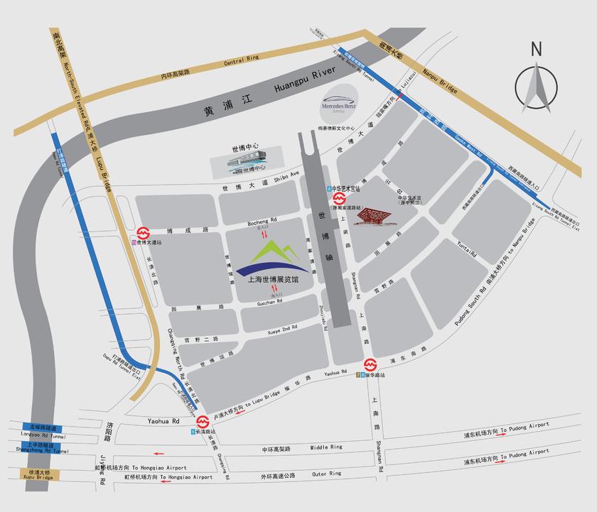 展馆交通图